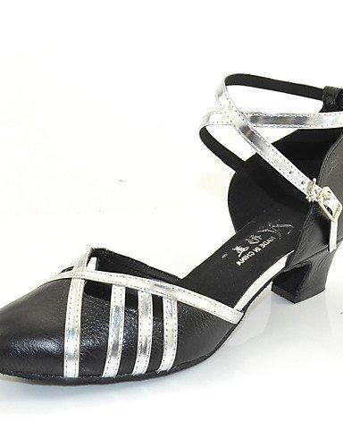 La mode moderne Non Sandales Chaussures de danse pour femmes personnalisables en cuir Cuir /latine Chaussures de Talon pratique moderne US5.5/EU36/UK3.5/CN35