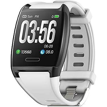 HalfSun Impermeable IP67 Smartwatch, HD Color Screen,Pulsera Inteligente con Pulsómetro, Monitor de Presión Arterial,Monitor de Calorías, Sueño, ...