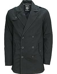 SoulStar Mens Trench Coat Winter Jacket Columbia Designer Mac Long Coat