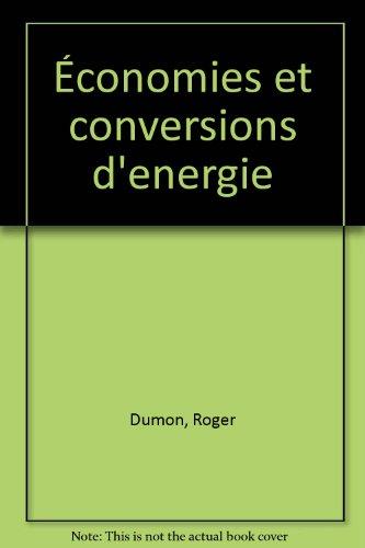 Economies et conversions d'énergie