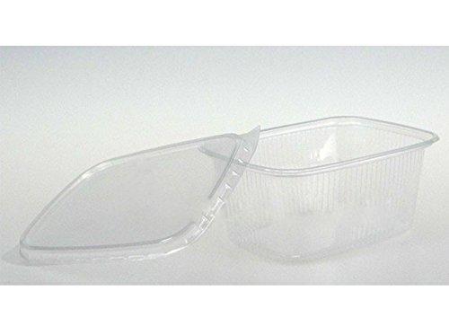 Feinkostbecher mit Deckel 250ml 250St - 2000St Verpackungsbecher Salatbecher, Wunsch:500 Stück