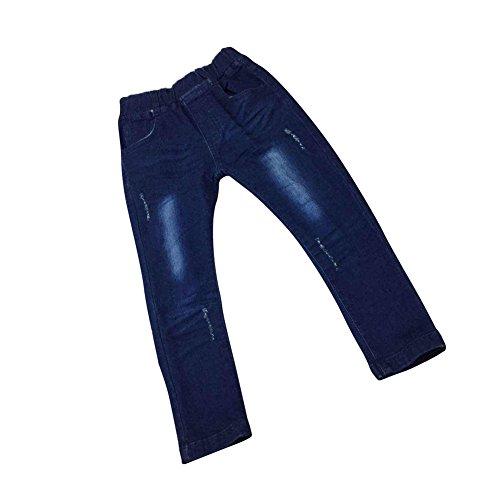 Zier Bambini Lungo Del Denim Dei Jeans Mutanda Casuale Pull Up Elastico Regolabile 33840