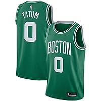 NBA Celtics Tatum 0 Swingman Men Jersey Hombres (Verde, XXL)