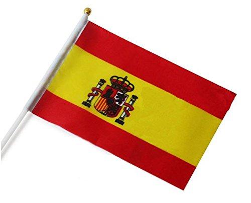 Nikgic Mini Bandera de España, 14cm*21cm, de País de España, Español, Copa Mundial