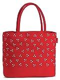Umhängetasche Badetasche wasserabweisend Einkaufstasche mit Reißverschluss Tasche in Rot moderner...
