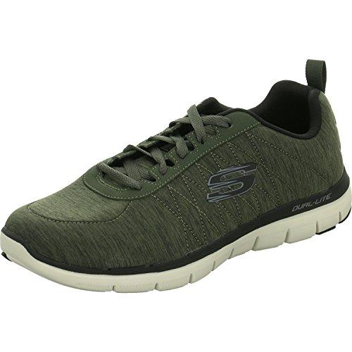 (Skechers Flex Advantage 2.0-Chillston Herren Sneaker Oliv, Größe:44, Farbe:Oliv)