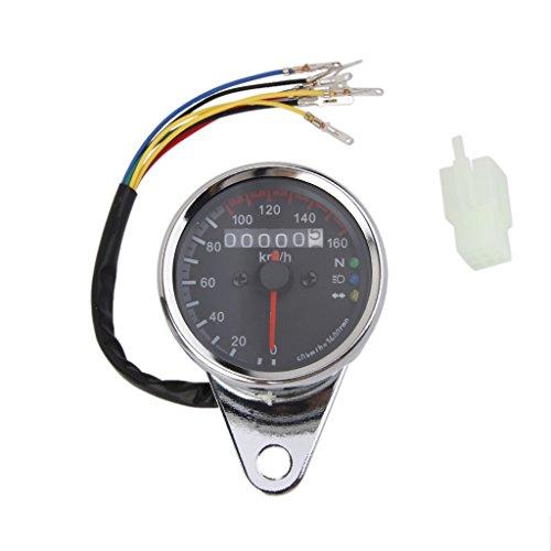 Universal Motorrad LED Tacho Tachometer Drehzahlmesser Geschwindigkeitsmesser Kilometerzähler Gauge