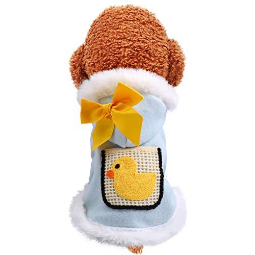 Fenverk Hundekleidung Katzenbekleidung Shirts FüR Hunde Katzen Haustier Warm Kleid Kariertes Welpen-KostüM Flanell Hundejacke Hunde, Hundemantel Gepolstert Puffer Weste Welpen(A - Schneekugel Kostüm