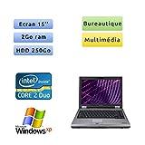 PC Portable Toshiba Windows XP 32bits - Port Série COM RS232 Port - Core 2 Duo 2GB 250GB 15' - Ordinateur