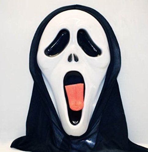 (HAAC Maske Geist Geistermaske für Fasching Halloween Karneval)