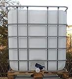 VOXTRADE Regenwassertank 1000 Liter auf Holzpalette