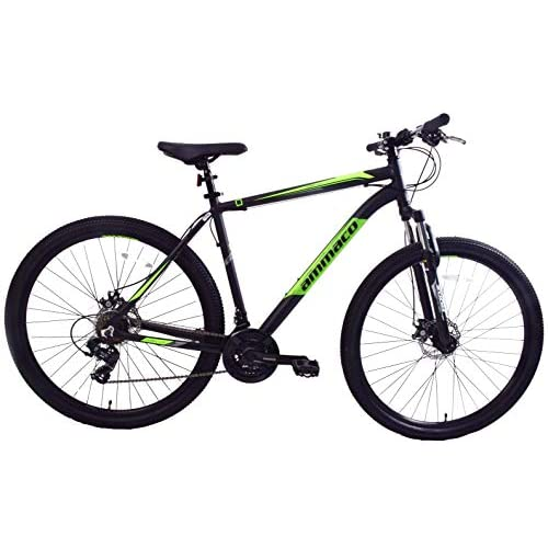 "41Vu9Htaa6L. SS500  - Ammaco. Team 4.0 29"" Large Wheel Mountain Bike Disc Brakes Front Suspension Alloy 19"" Frame Black/Green"