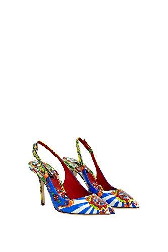 CG0051AC47280995 Dolce&Gabbana Sandale Femme Cuir Verni Multicouleur Multicouleur