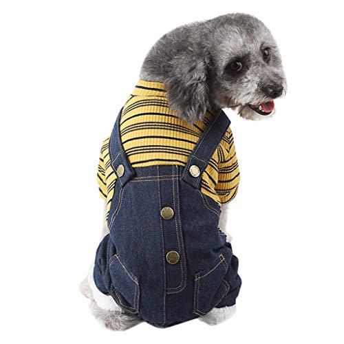 MCYs Hundepullover Herbst Winter Bequeme Pullover Haustier Kleid Strickjacke Strickwaren