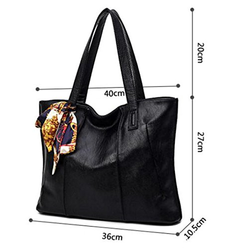 Damen-Tasche Einfache Mode Handtasche Schulter Diagonale Paket WineRed
