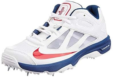 Nike Men's Lunar Dominate White,Team Orange,Italy Blue,Metallic Silver Cricket Shoes -12 UK/India (47.5 EU)(13 US)