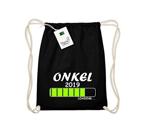 ShirtInStyle Gym Sack hochwertiger Turnbeutel Loading ONKEL 2019 Schwarz