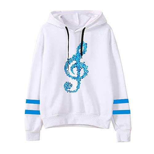Dorical Frauen Kleidung Casual Musical Notes Langarm Hoodie -