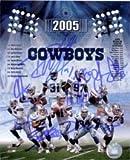 Signé Cowboys, Dallas (2005) 8x 10par Julius Jones, Roy Williams, la 'roi Glover, LARRY Allen, JASON Witten, demarus Ware, Drew BLEDSOE, Terry Glenn et keyshawn Johnson Autographe