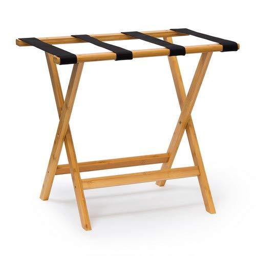 Relaxdays Kofferständer Holz HxBxT 50 x 60 x 37,5 cm Kofferbock aus Bambus mit 4 stabilen Gurten als Kofferablage oder Gepäckablage für Hotels oder Pensionen als Kofferhocker Geschäftsreisen, natur - Rustikale Möbel-accessoires