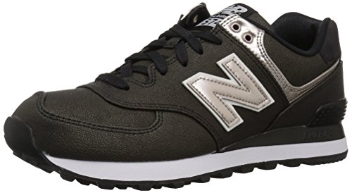 New Balance Damen Sneaker, Schwarz (Black/WL574SFH), 38 EU (5.5 UK) (New Balance Schwarz Frauen)