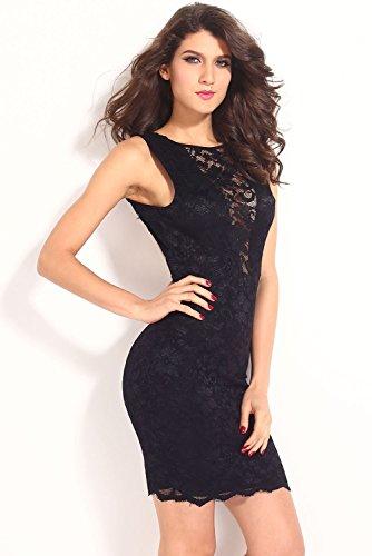 Dissa® femme Noir SY6152 robe de cocktail Noir