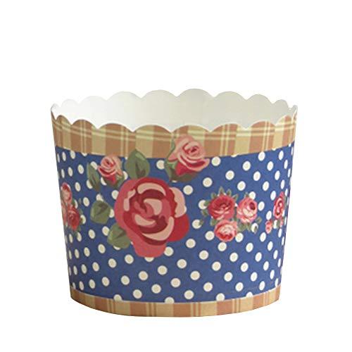 (Beiersi Cupcake Formen Muffin Förmchen Papier Cupcake Wrappers Backen Tassen Liner Muffin Foermchen Cupcake Papier Backen Muffin Cups 20 Stück Dekor Hochzeit Party (Navy Blau))