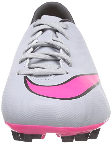 NikeJr Mercurial Victory V AG - Scarpe da Calcio Bambino Grigio (Grau (Wolf Grey/Hyper Pink/Black/Black))