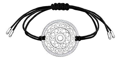 Nenalina Damen Armband mit Kronen – Sahasrara Chakra Anhänger in 925 Sterling Silber rhodiniert mit Swarovski Steinen besetzt 863357-901