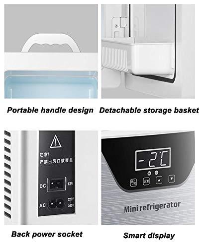 41VuEAx%2BEoL - JCDZSW Refrigerador de automóvil CNC de Tres núcleos 20L Mini refrigerador pequeño de Doble Uso para el hogar Adecuado para refrigeradores de Alimentos, medicamentos, cosméticos, hogar y Viajes,Plata