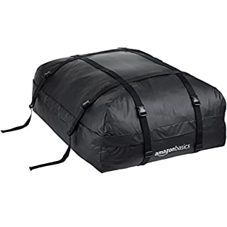 AmazonBasics Rooftop Cargo Carrier Bag, Black, 425 litres