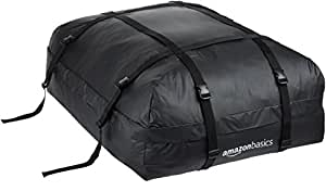 AmazonBasics Rooftop Car Carrier Bag, Black, 15 Cubic Feet