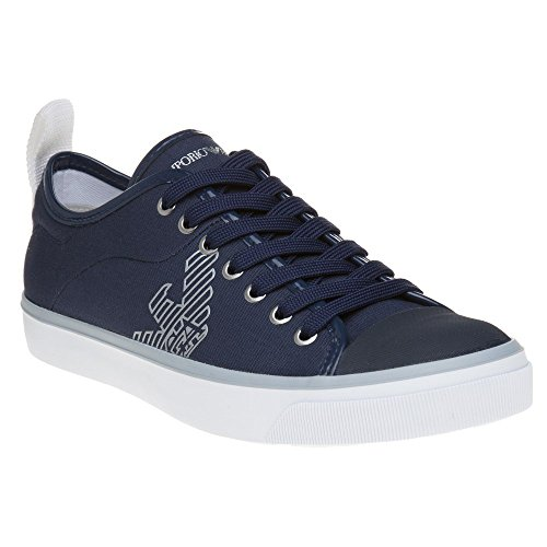 Emporio Armani Logo Pump Damen Sneaker Blau