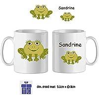 Texti-cadeaux-Mug Grenouille-personnalisé avec un prénom exemple Sandrine