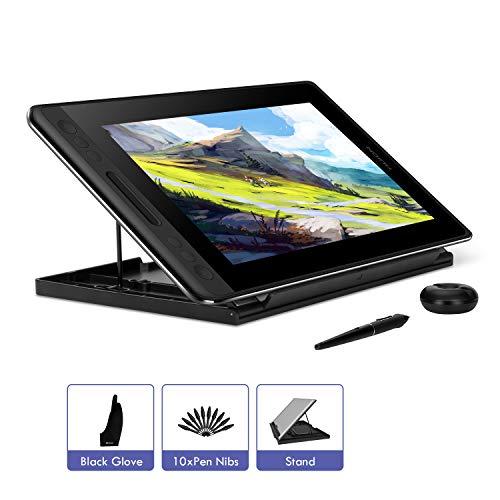 HUION KAMVAS PRO 12 11.6 Zoll Grafiktablett-Monitor batterieloses Stift-Display mit Neigungsfunktion 120{dfa1775691021f8a2c95f6020c443c5d80fd0ccd7ea888bafc7fdc64ac47aac6} sRGB Vollkaschierte blendfreie Glasscheibe (GT-116)