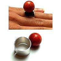 Ring, KORALLE Silber 925, NEU