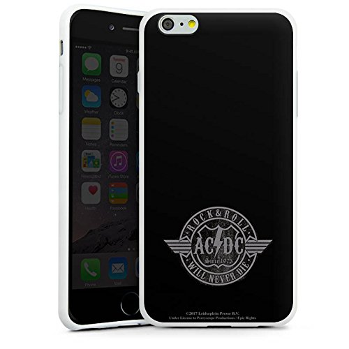Apple iPhone 7 Plus Silikon Hülle Case Schutzhülle ACDC Rock and Roll Offizielles Lizenzprodukt Silikon Case weiß