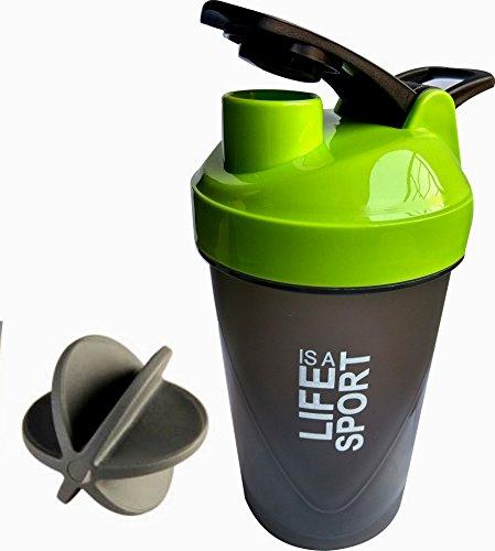 S.Blaze Amazing Green Life Is A Sport 500ml Protein Shaker   Sipper Bottle   Gym Bottle   Water Bottle   Good Quality Shaker Bottle For Both Men's / Women's / Boy's / Girl's 500 Ml Shaker, Bottle, Sipper(Pack Of 1)