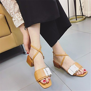 pwne Donna Sandali Slingback Pu Estate Casual Slingback Chunky Heel Camel Grigio Nero 2A-2 3/4In Cammello Us8 / Eu39 / Uk6 / Cn39 US8.5 / EU39 / UK6.5 / CN40