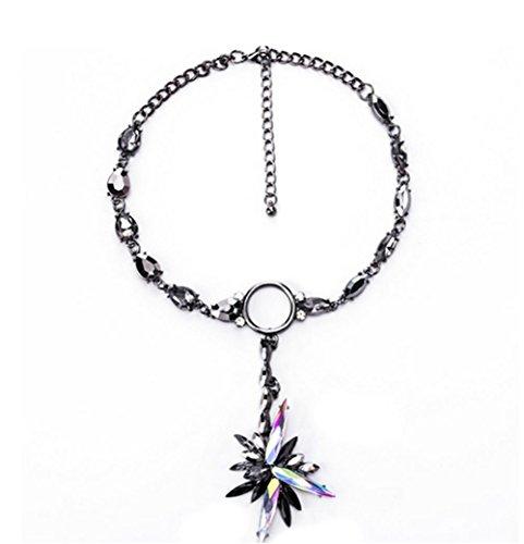 Preisvergleich Produktbild XX Eiskristall Anhänger Halskette , Black,black
