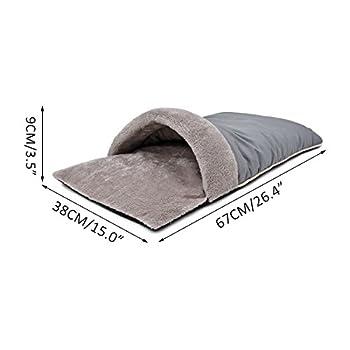 PAWZ Road Sac de couchage pour chat panier lit chiot lit du peluche auto-réréchauffant pour animal de compagnie deux couleurs Vert et Gris ( Couleur : Gris )