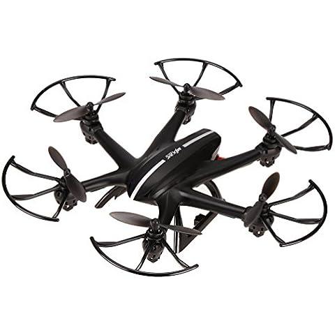 Arshiner Quadcopter Drone MJX X800 Hexacopter 6-Axis Gyro 2.4GHz RC 3D roll-C4005 FPV Trasmissione in Tempo Reale Come Mini UFO con la VideoCamera HD Nero