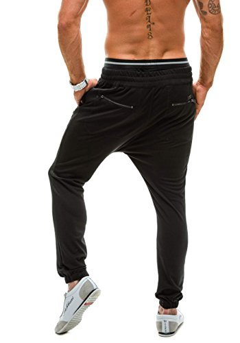 BOLF Herrenhose Baggy Sporthose Trainingshose Jogginghose Fitnesshose Mix 6F6 Schwarz_1030