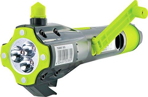 Led-kurbel-taschenlampe (Schwaiger TLED81 513 Multifunktionstaschenlampe Outdoor, Notfall (8in1, LED, Notfallakku, Kompass, Gurtschneider, Scheibenhammer, Micro USB Buchse, Powerbank. Magnet, Kurbel, Notfalllicht))