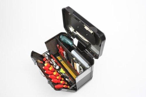 Parat Evolution Werkzeugkoffer mit CP-7-Werkzeughaltern, schwarz/silber (Ohne Inhalt) - 9