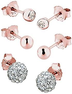 Elli Damen Ohrringe Silber vergoldet Swarovski Kristall