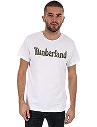 Timberland Mens Seasonal Logo T-Shirt in White 6394364231d