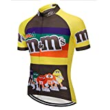 Maillot de Cyclisme Vélo de Montagne Vêtements pour Homme Maillot de Cycliste Manches Courtes (L,10)