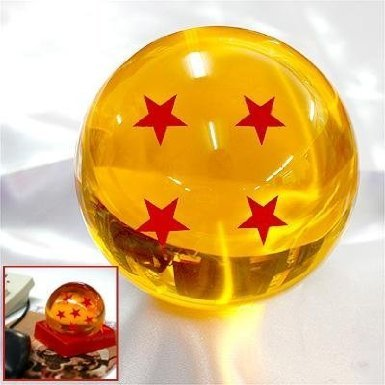 Acrylic Dragonball Replica Ball (Large/4 Stars) Large Size 7CM by Yao Design