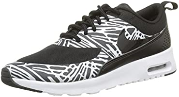 Nike Women's Air Max Thea Print Low-Top Sneakers, Black (Black/Black-White-Mtllc Silver), 5 UK